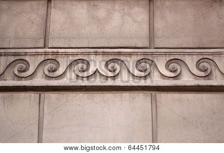 Fragment Of Building With A Cornice As Greek Ornament