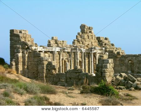 Ancient ruins, Side, Turkey