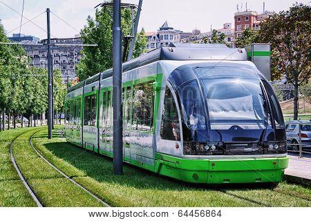 Green Tram in Bilbao