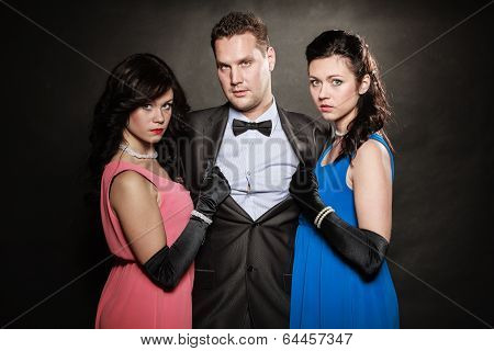 Love Triangle. Two Women And One Man. Betrayal.