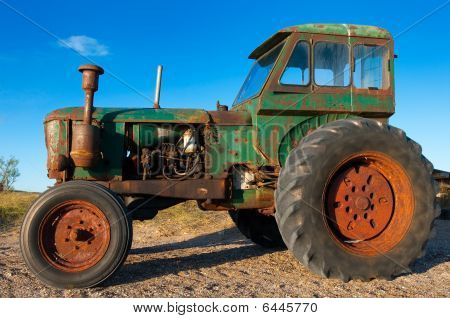 Old Rusty Tractor Still Working