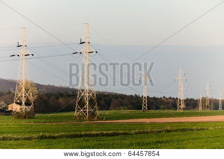 Energy. High Voltage Post. Electricity Pylons.