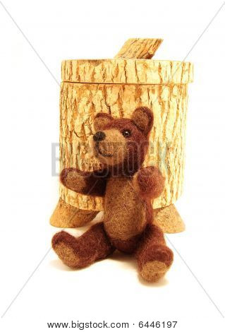 Teddy & honey jar