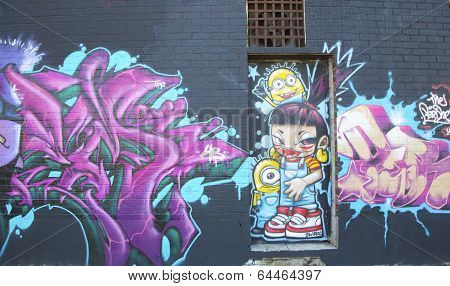 Mural at East Williamsburg neighborhood in Brooklyn