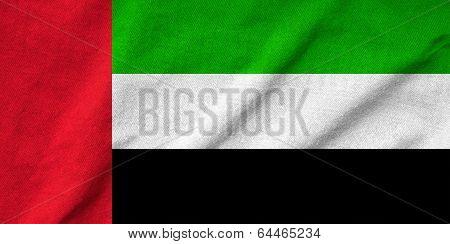 Ruffled United Arab Emirates Flag