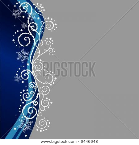 Blue And Silver Christmas Border