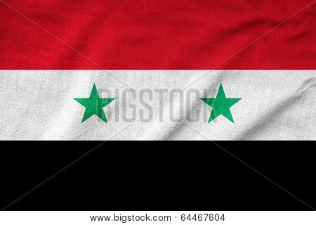 Ruffled Syria Flag