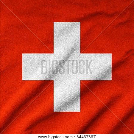 Ruffled Switzerland Flag
