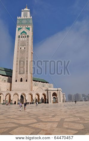 The Hassan Ii Mosque, Located In Casablanca Is The Largest Mosque In Morocco And The Third Largest M