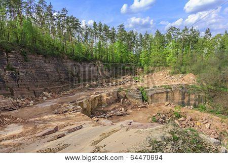 Quarry Of Sandstone