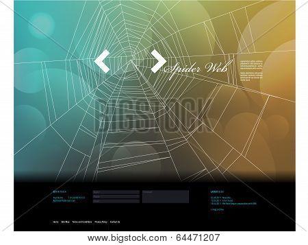 Spider Web Design template