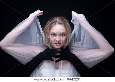 Beautiful Blond Girl Choking By Black Arms