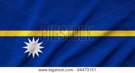 Ruffled Nauru Flag