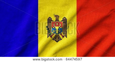 Ruffled Moldova Flag