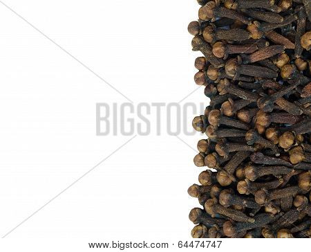 Cloves Isolate On  White Background