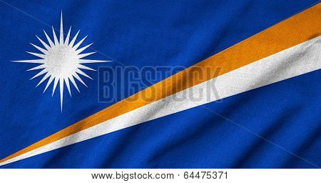 Ruffled Marshall Islands Flag
