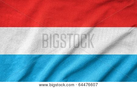 Ruffled Luxembourg Flag