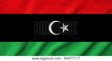 Ruffled Libya  Flag
