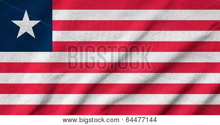 Ruffled Liberia Flag