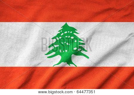 Ruffled Lebanon Flag