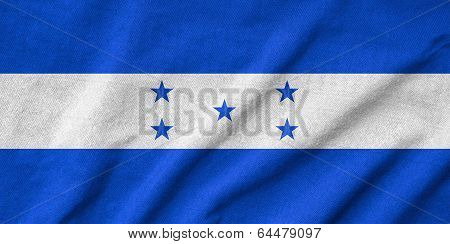 Ruffled Honduras Flag