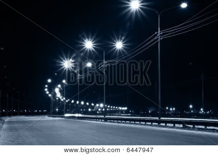 Night urban street