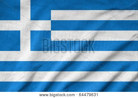 Ruffled Greece Flag
