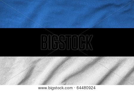 Ruffled Estonia Flag