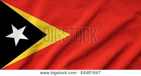 Ruffled East Timor Flag