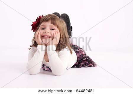 Little Girl Preschooler Model