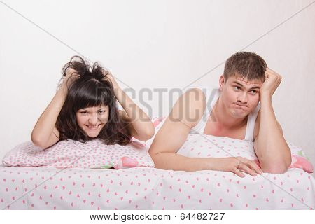 Young Girl And Guy Is Very Frustrated