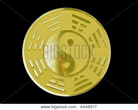 golden yin yang