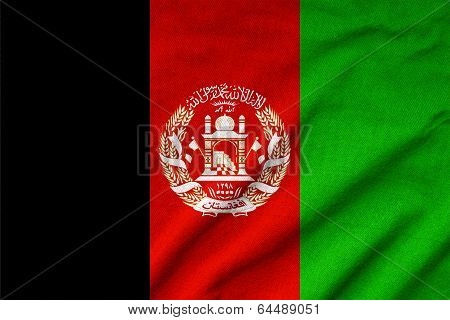 Ruffled Afghanistan Flag