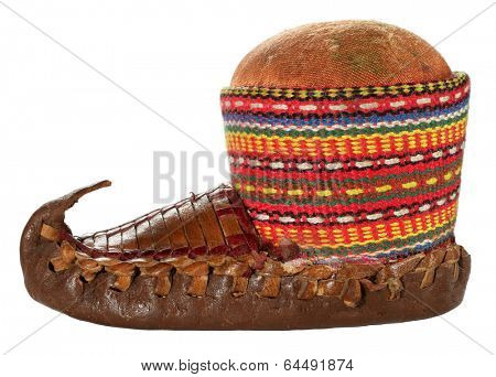 Opanak old traditional Serbian shoe souvenir pincushion