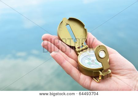 Compass in the hand