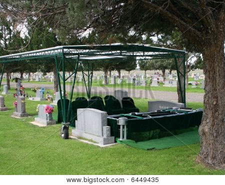 Preparation for a funeral