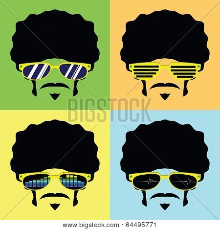 man wear glasses styles vector