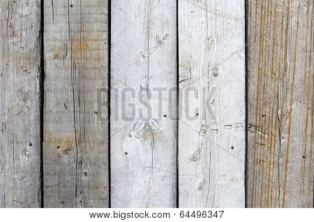 Fence with wooden planks.