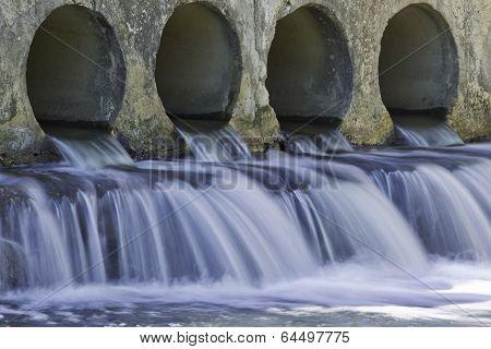 Flowing Rain Water