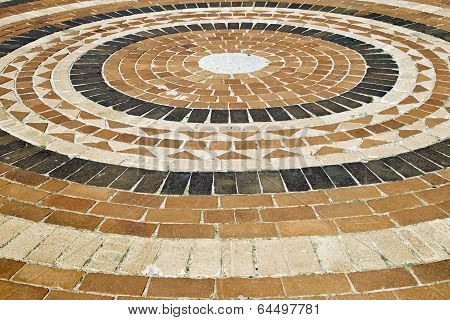 Brick Paving With Circular Pattern