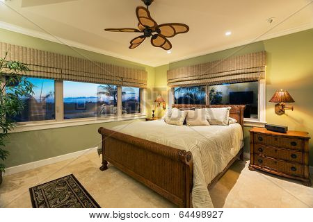 Beautiful Bedroom Interior in New Luxury Home, Interior Design