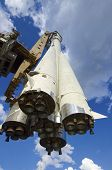 image of yuri  - Scale reproduction of Vostok 1 rocket used by Yuri Gagarin in the first space flight - JPG