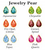 image of rose-quartz  - Jewelery set with faceting pear  - JPG