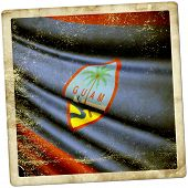 stock photo of guam  - This is an illustration of folded flag of Guam - JPG