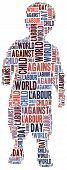foto of labourer  - Word cloud related to World Day Against Child Labour - JPG
