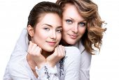 picture of teenagers  - Mother and Teen Daughter - JPG