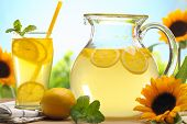 stock photo of pitcher  - Citrus lemonade - JPG