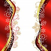 Red & Gold Christmas Border Designs