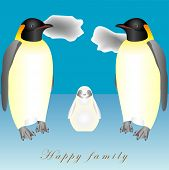picture of emperor  - Happy family of Emperor Penguin - JPG