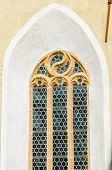 stock photo of woodcarving  - Woodcarved frame window - JPG